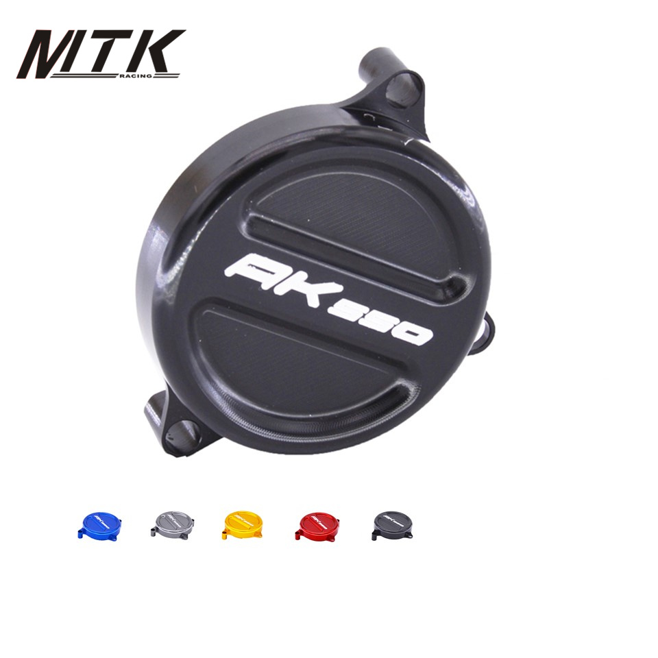 MTKRACING Motorcycle CNC Aluminum motorcycle ak 550 engine stator protection For KYMCO AK550 2017-2018 mtkracing for kymco ak550 motorcycle parts headlight protector cover screen lens ak 550 2017 2018