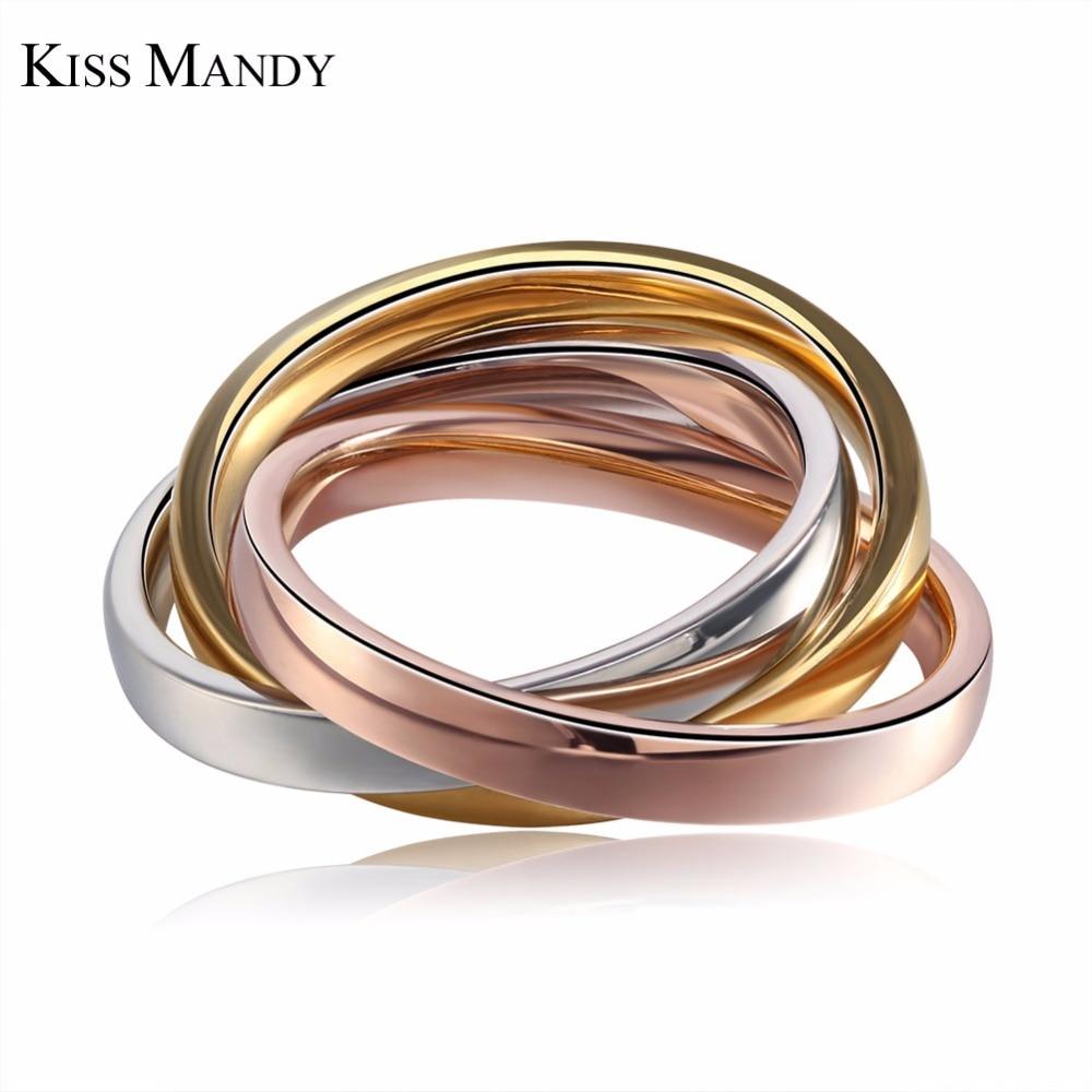 f11131af4e82 KISS Mandy tres en un diseño especial para los hombres 316L Acero inoxidable  anillo de dedo nueva llegada FR24