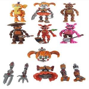 Image 2 - 6ピース/セット5夜アクションフィギュア玩具fnafボニーフォクシーfazbear置物のおもちゃ光と