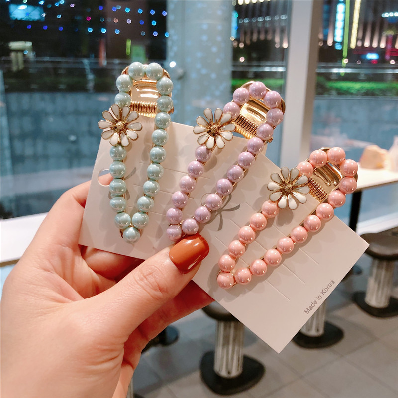Ruoshui Candy Colors Hairpins for Woman Waterdrop Hair Clips Girls Floral Hairgrip Sweet Hair Accessories Fashion Headwear