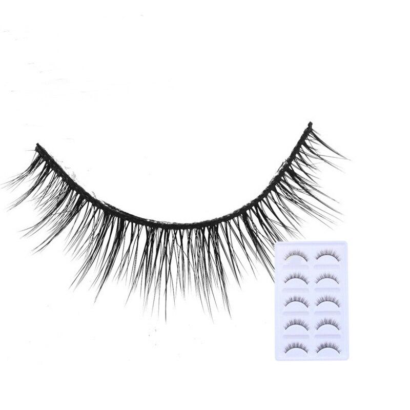 2018 NEW 5 Pairs mink eyelashes natural long 3d mink lashes hand made false eyelashes 1 box makeup eyelash extension E27