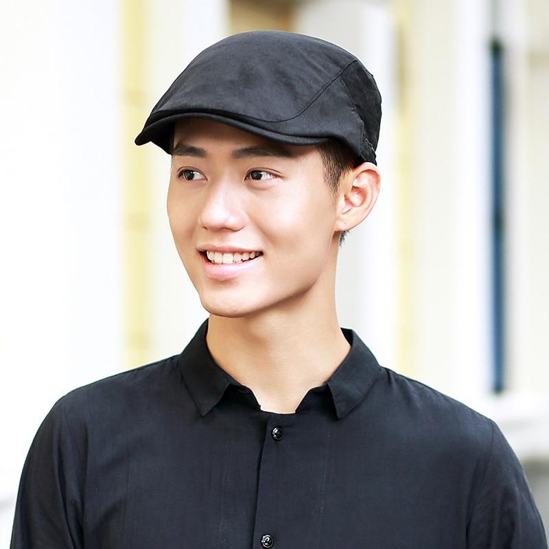 2018 Hombre Sólido Verano Newsboy Caps Hombres Casual Ivy Hat - Accesorios para la ropa