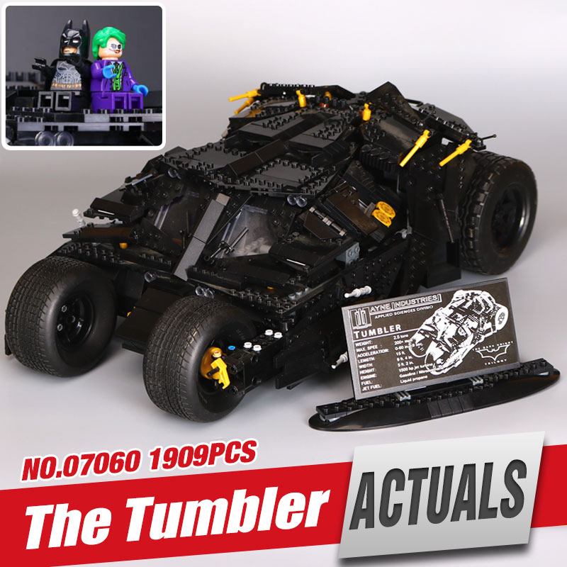 LEPIN 07060 Genuine Super Hero Movie Series The Batman Armored Chariot Set 76023 Educational Building Block Brick legoing Toys lepin 07060 super series heroes movie the batman armored chariot set diy model batmobile building blocks bricks children toys