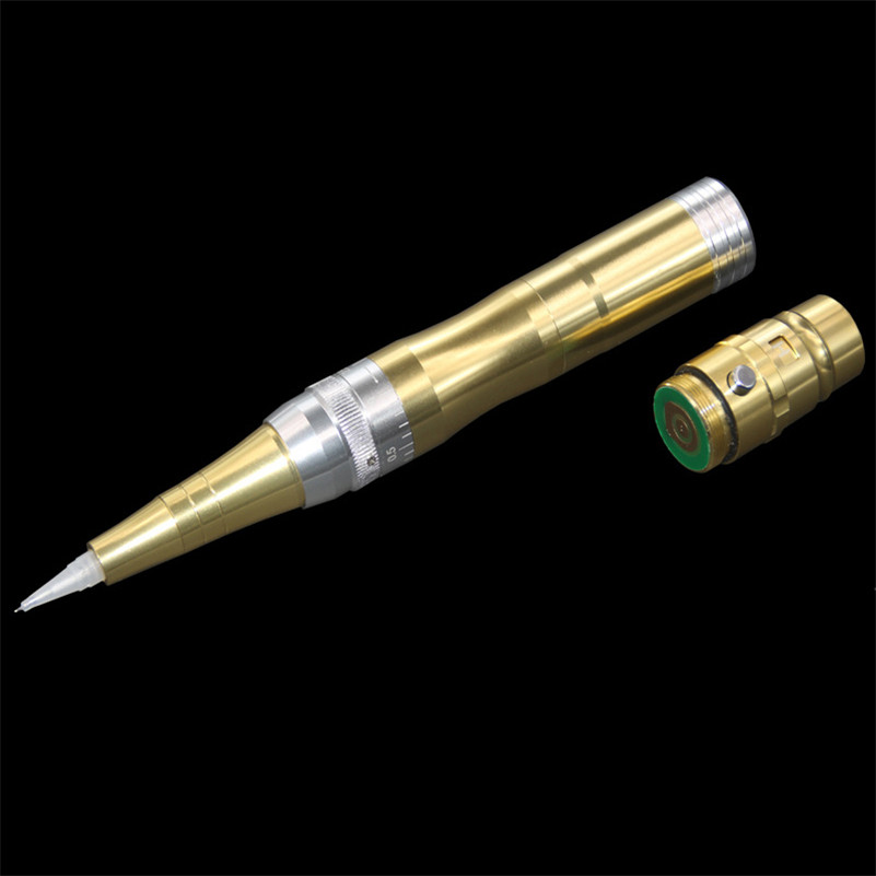 High End 1Pcs  Eyebrow Tattoo Machine Permanent Makeup Pen Professional Rotary Microblading Pen Needles Cartridges For Eye Art 15pcs red professional handmade permanent makeup tattoo manual pen machine for eyebrow 50pcs blade 12 free shipping