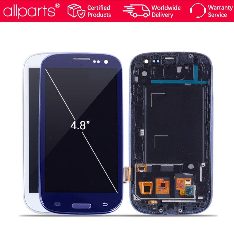 Exibição i9300 i9300i Para SAMSUNG Galaxy S3 Display LCD Substituição da Tela com Moldura Para SAMSUNG Galaxy S3 i9301 i9308i i9301i