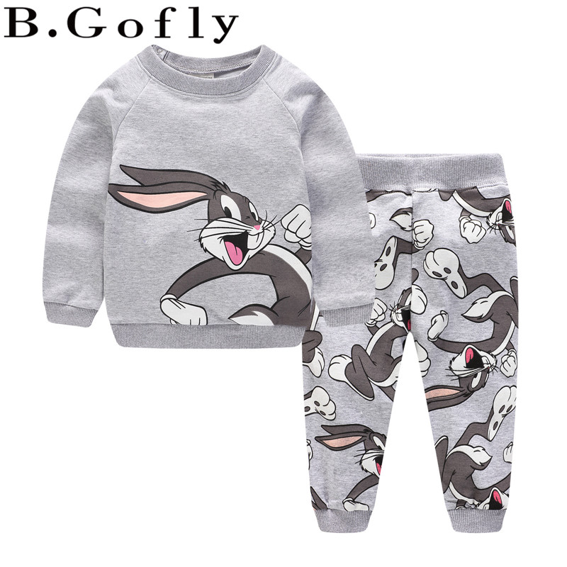 Fashion Toddler Baby Sport Suit GirTops Coats Outwear Sweatshirt Carton Sweater Pants Children Kids Tracksuit Boy Clothing Set