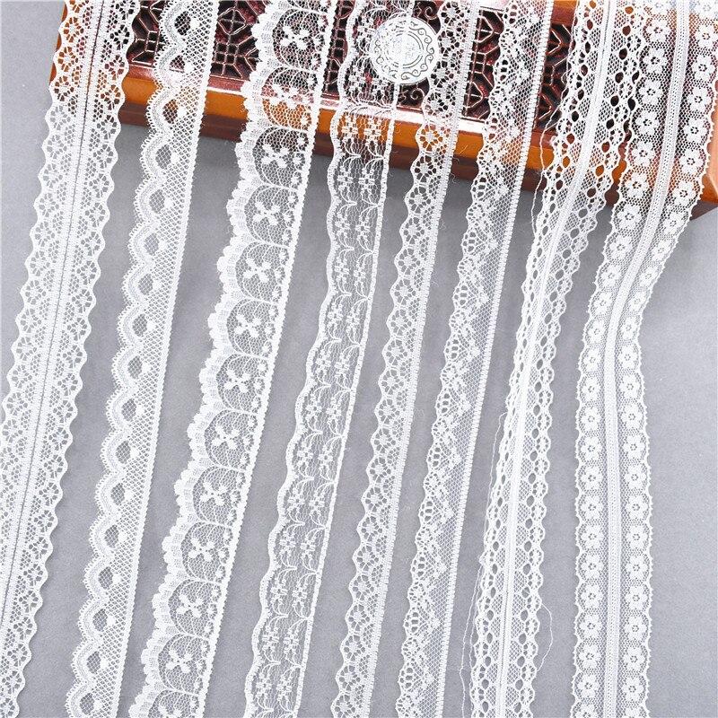 Белая кружевная лента, 10 ярдов, 38 видов цветов, тканая лента, французская, африканская кружевная ткань для свадьбы, сделай сам, одежда, подарочная упаковка|Кружево|   | АлиЭкспресс