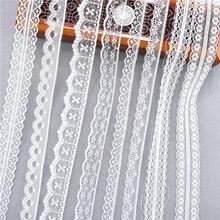 Bande en dentelle tissée 10yards 38 sortes | Ruban en dentelle blanche, dentelle africaine française, tissu de mariage, bricolage, vêtements/emballage de cadeau, meilleure vente