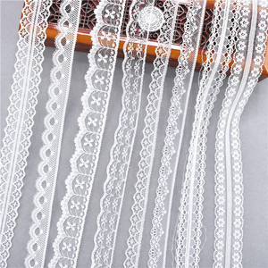Best selling 10yards 38kinds color white lace ribbon woven band French African lace wedding fabric DIY clothing/gift wrapping