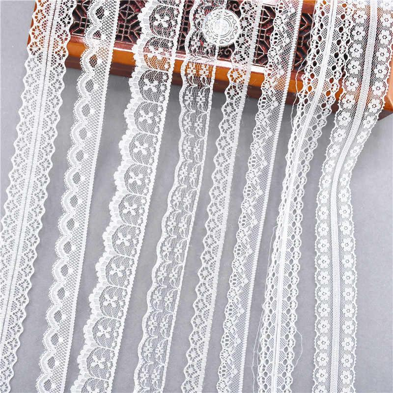 Best vendita 10 metri 38 generi di colore bianco nastro di pizzo banda tessuta Francese Africano del merletto del tessuto di nozze FAI DA TE abbigliamento/ da imballaggio del regalo