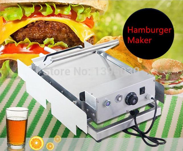 Ev Aletleri'ten Fırınlar'de 1 adet Ticari Paslanmaz Çelik Fırın 220 V 2400 W Çift Katmanlı Hamburger Isıtma Sandviç Makinesi kullanımı Elektrik
