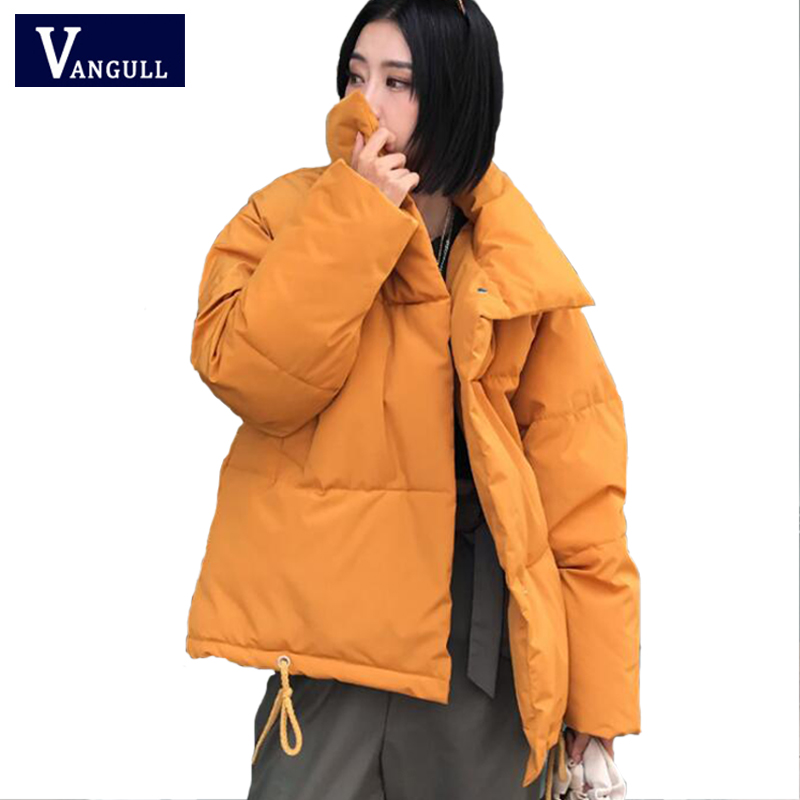 2019 Winter New Casual Women Warm Cotton Coat Thick Short   Parkas   Female Korean Loose BF Harajuku wind Solid Long Sleeve Jackets