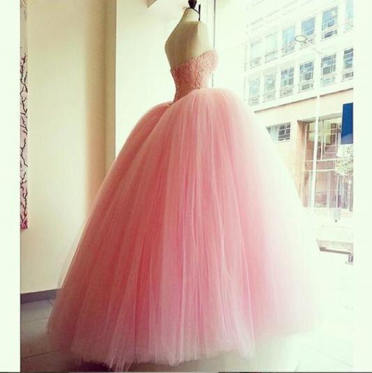 Pink Quinceanera Dresses Orange Ball Gown Sweetheart Tulle Beaded Vestidos De 15 Anos Backless Floor Length Robe De Bal Elegant - 2