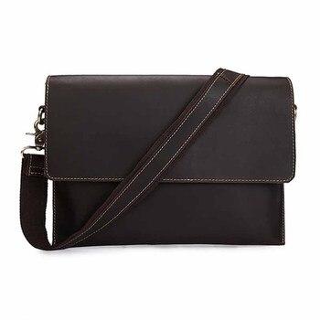 Genuine Leather Men's Messenger Bags Brand Man Shoulder Bags Casual Briefcase Handbag Male Crossbody Bags Business Travel Gift