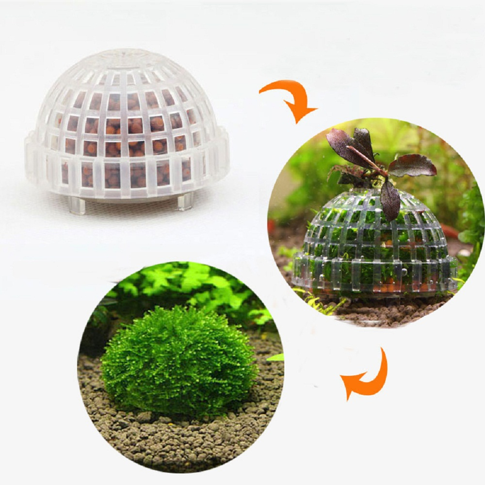 Fish for aquarium online - Aquarium Mineral Stone Suspended Float Moss Ball Fish Tank Aquascape Crystal Red Shrimp Live Plant Cultivation