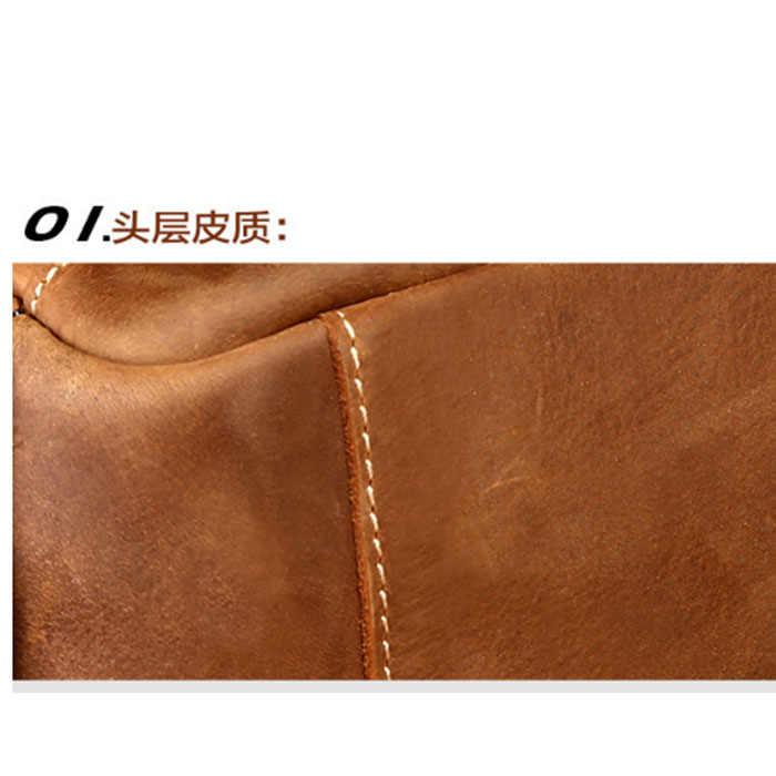 Для мужчин школьный рюкзак из натуральной кожи Для мужчин с дорожные сумки модные мужские рюкзаки Повседневное Бизнес коровьей мужской сумки на ремне хаки