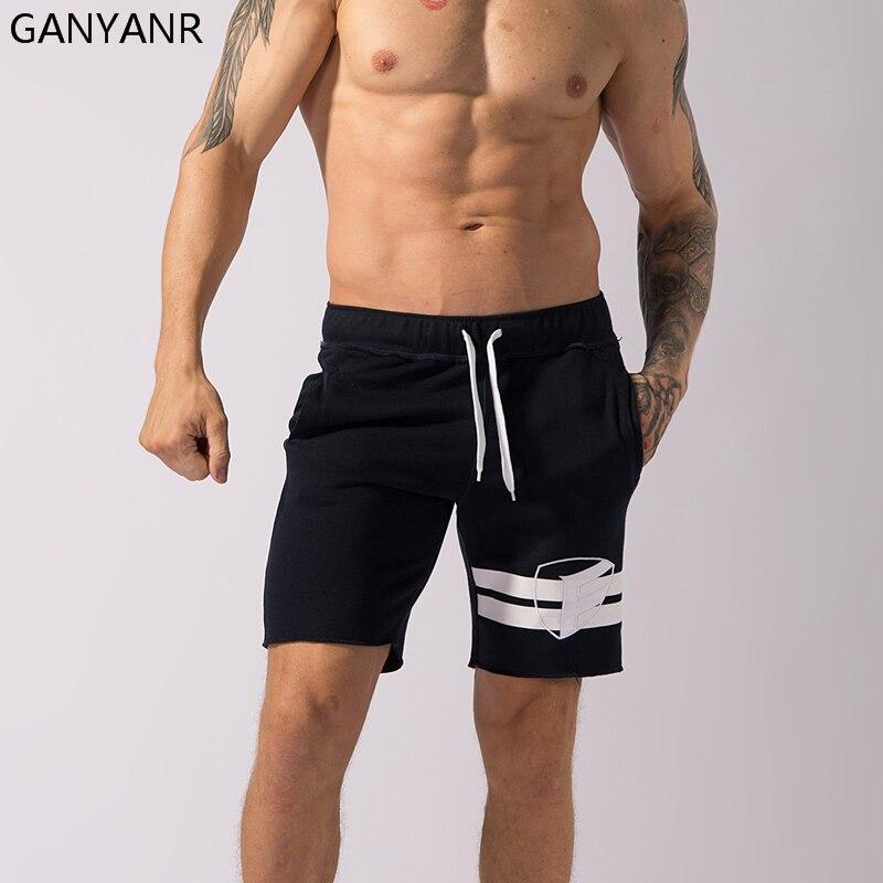 GANYANR Brand Running Shorts Men Gym Basketball Fitness Athletic Leggings Short Pants Soccer Volleyball Crossfit Tennis Sports