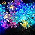 2 m 20 leds Bateria Flores de Lótus LEVOU Seqüência de Luz para Casa e Decoração Do Jardim Guirlandas Grinalda Do Feriado Corda Iluminação