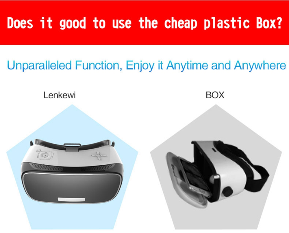3D VR All In One VR Glasses Virtual Reality 5.5 inch 1920*1080 Eight Core HDMI Android 5.1 HD Display Immersive 3D Cinema Games