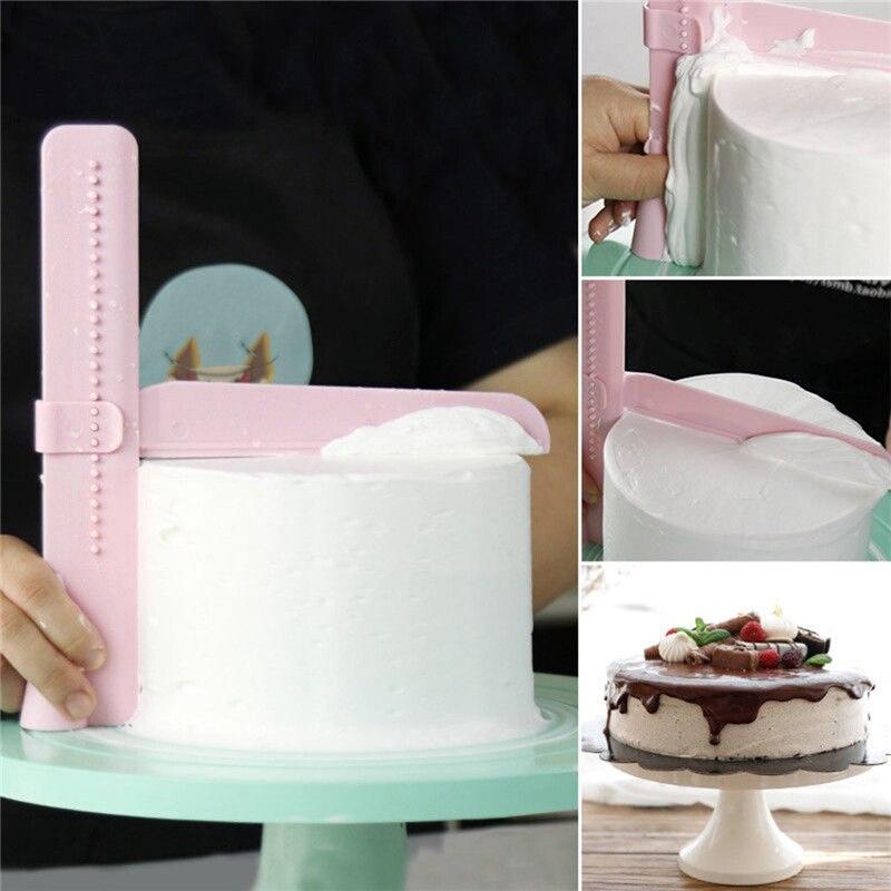 Réglable Gâteau Lisse Outils Cutter Decorating Fondant Sugarcraft Icing Mold