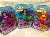 2018 Newest Winx Club Doll rainbow colorful girl Action Figures Fairy Bloom Dolls Draculaura Frankie Stein Clawdeen Wolf