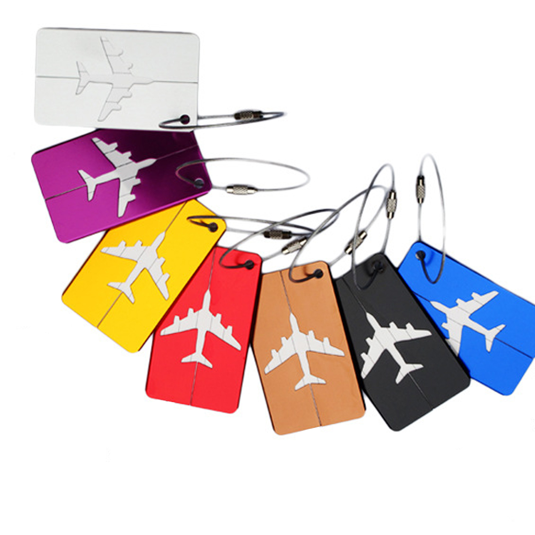 Creative Mini Rectangle Aluminium Alloy Luggage Tags Travel Accessories Baggage Name Tags Suitcase Address Label Holder