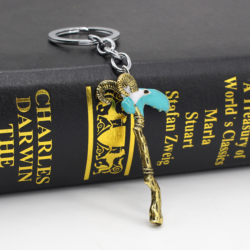 Dota 2 The Guinsoos Scythe Of Vyse Keychain Avengers Keyring Cosplay Key Holder Magic Power Rights Game In Chains From Jewelry