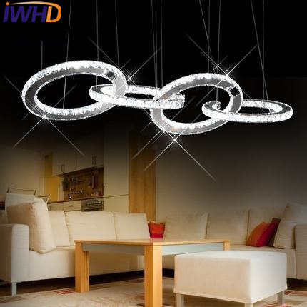 IWHD K9 Crystal Hanging Lamps Modern Fashion LED Pendant Lights Simple Kitchen Restaurant Copper Bedroom Bar Luminaire Suspendu 2016 new luminaire lamparas pendant lights modern fashion crystal lamp restaurant brief decorative lighting pendant lamps 8869