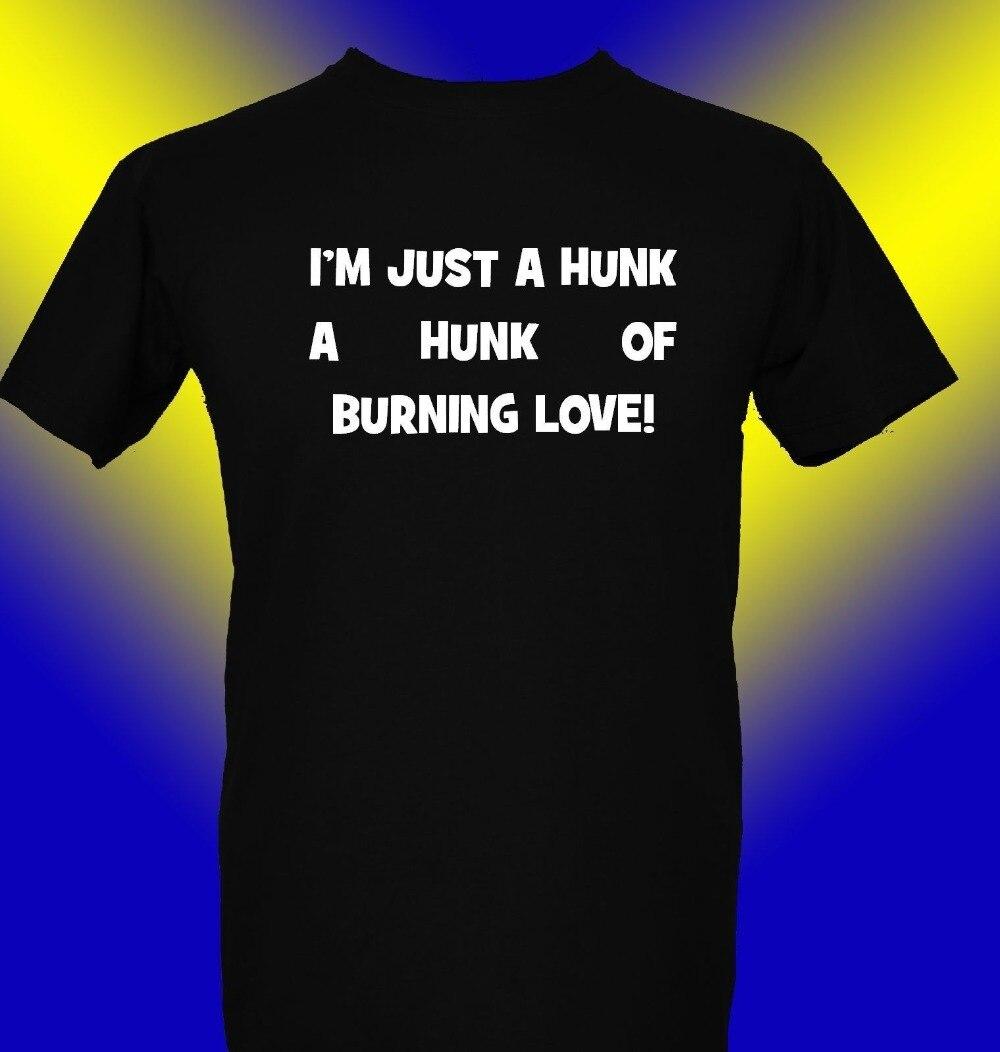 2018 Summer Style Elvis Presley camiseta inspiracion Gracioso Hunk Of Burning Love 3XL 4XL 5XL Printed T Shirts Mens Streetwear