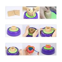 LeadingStar Children Cute Electric Ceramic Pottery Wheel With Clay Kits DIY Pigment Device Kids Gift