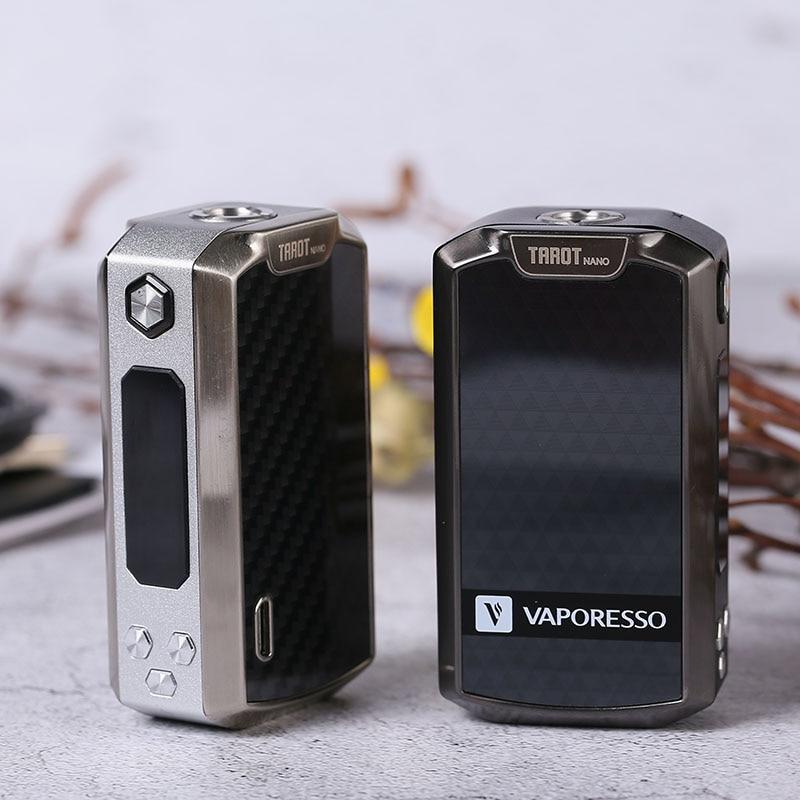 D'origine Vaporesso Tarot Nano Mod Cigarette Électronique vaporisateur mod Batterie 2500 mah TC Boîte MOD 80 w pour VECO EUC réservoir 2 ml VW/VT modes