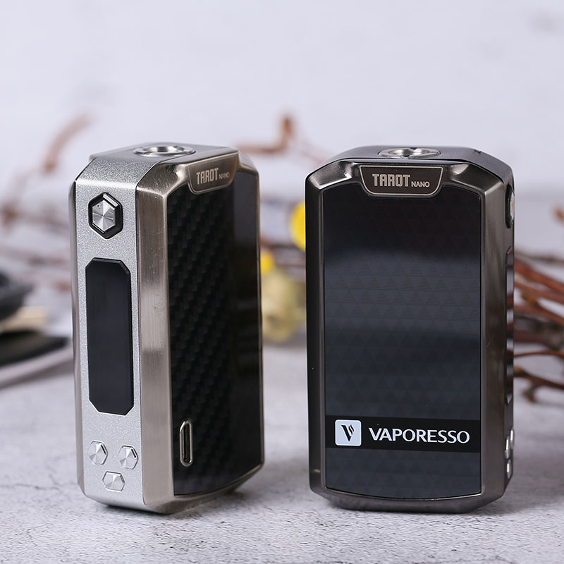 Original Vaporesso Tarot Nano Mod Electronic Cigarette vape mod Battery 2500mAh TC Box MOD 80W for VECO EUC Tank 2ml VW/VT modes