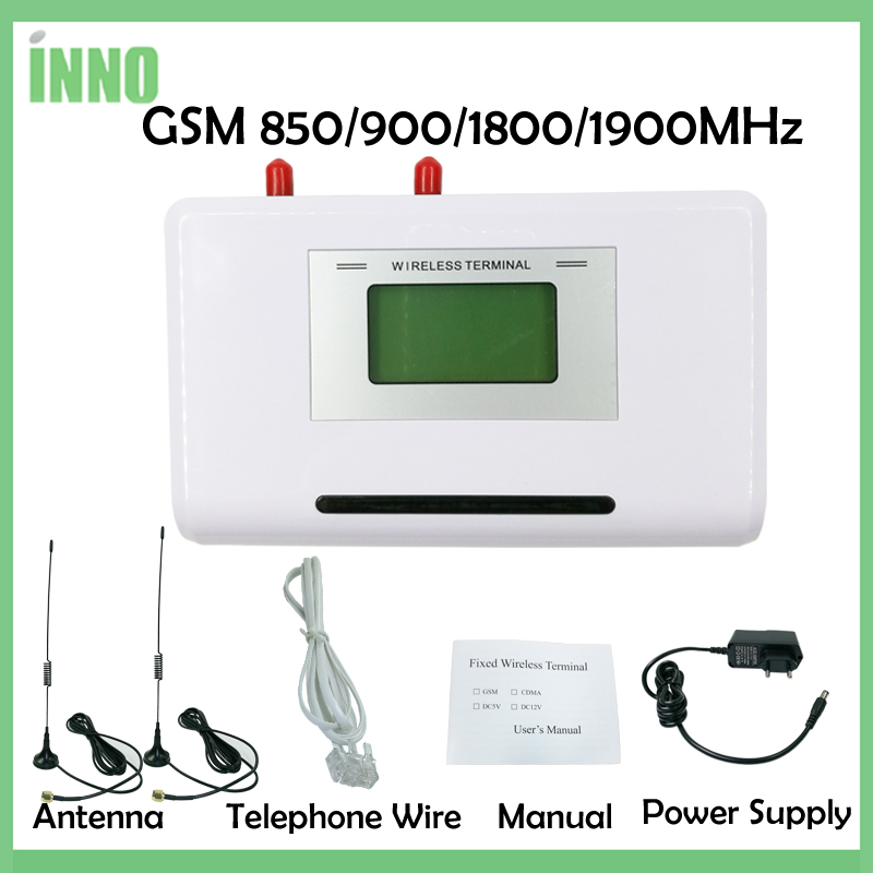 Fixed Wireless Terminal GSM 850/900/1900MHz, GSM Dialer 2 SIMs, Dual Standby, Support alarm system, PABX, free shipping ...