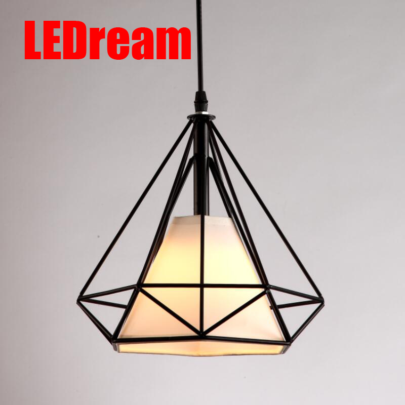 Low cost free with led bulb colorful birdcage pendant lights iron free with led bulb colorful birdcage pendant lights iron retro light oft pyramid lamp metal cage with vde best wire and holder aloadofball Choice Image