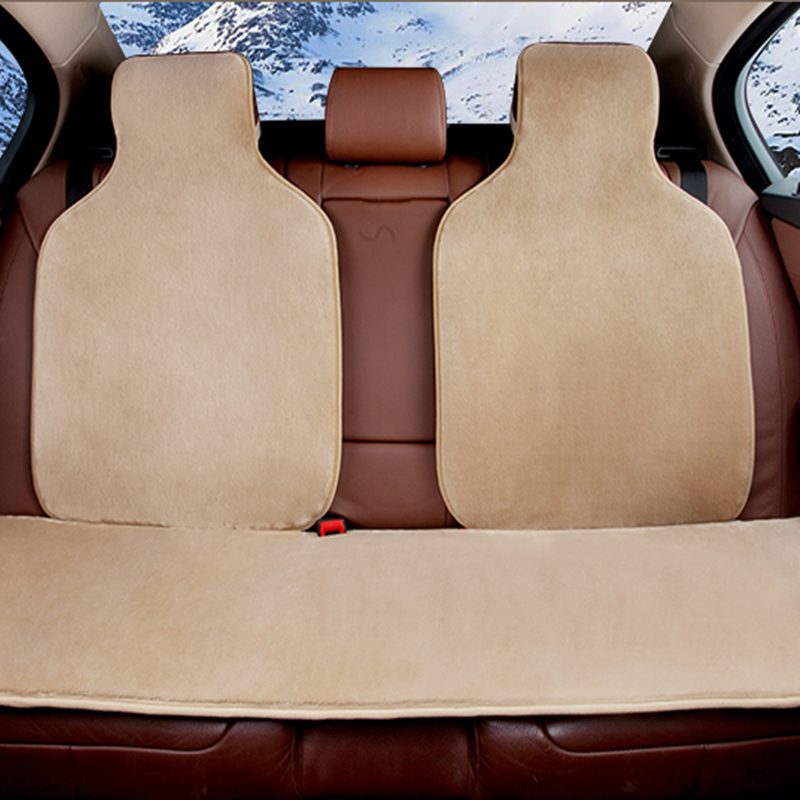 Free shipping Black Red 2017 New Arrival Faux fur cute Seat <font><b>cushion</b></font> Covers for passat seat covers pad Hot sale