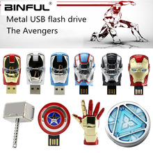 Avengers Iron Man Hulk Usb Flash Drive 64gb 128gb Usb 2.0 Pen Drive 4gb 8gb 16gb 32gb Pendrive High Quality Flash Disk Best Gift