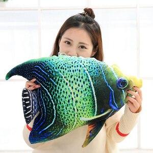 Image 4 - 3D Simulação Oceano Peixes Tropicais Abraço Travesseiro Almofada Brinquedo de Pelúcia Dos Desenhos Animados Travesseiro Tartaruga Decoração de Casa de Boneca Criança Presente de Aniversário