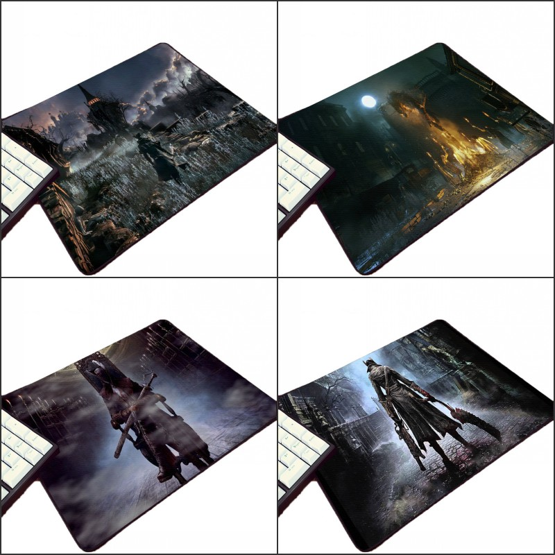 Congsipad High Quality Creative Diy Bloodborne Horror Game Customized Design Pc Mousepad Tablet Gamer Player Mouse Pad for Gamer image