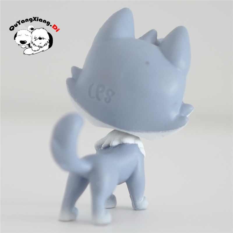CWM072 Pet Shop Animais Cinza azul gatinho boneca action Figure