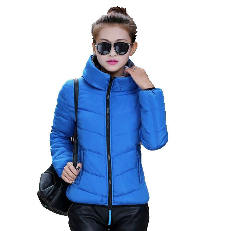 New Fashion Women Fall Winter Han Edition Brief Paragraph Down Jacket leisure Hooded Keep Warm Cotton
