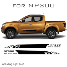 free shipping 2 PC side adventure mountain stripe graphic Vinyl sticker for NAVARA NP300 2015 2016 цена