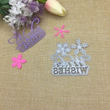 Julyarts Word Dies Wishes Metal Cutting 2019 New For Scrapbooking Album Paper Greeting Card Making