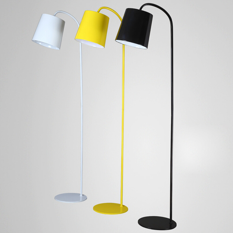 Attractive Modern Simple Floor Lamp Yellow Black White Color Floor Light  Living Room Reading Bedroom Office