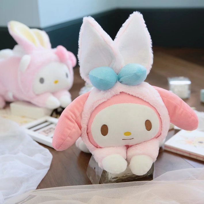Candice guo! super Q plush toy sweet melody Cinnamoroll turned to rabbit soft tissue box cover girls birthday Christmas gift 1P super wholesale 160cm plush toy rascal rabbit large bugs bunny girls gifts christmas gift