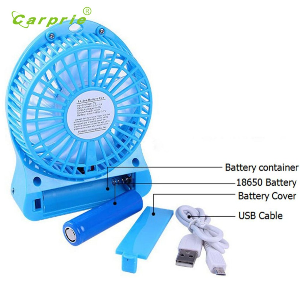 New Portable Rechargeable LED Fan air Cooler Mini Operated Desk USB 18650 Battery 18mar2 Dropshipping