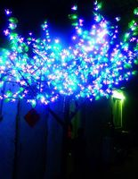 2 M 6.6ft LED Cherry Blossom Tree Esterna di Natale Matrimonio di Vacanza Luce Della Decorazione 1152 LED Rosa Fiore di Ciliegio + Verde foglio impermeabile