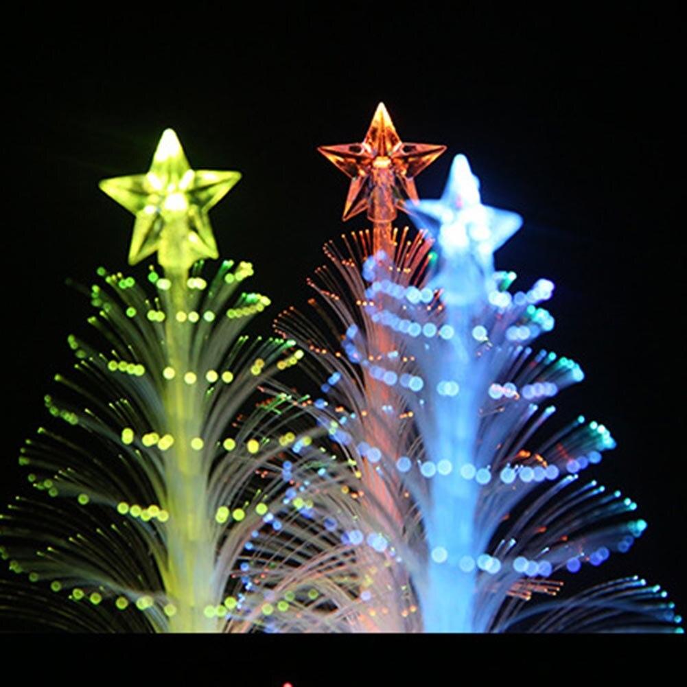 Новый Рождество дерево света мини Цвет светодиодные оптического Огни <font><b>Xmas</b></font> дерево свет лампы Фестиваль украшения дома лампа