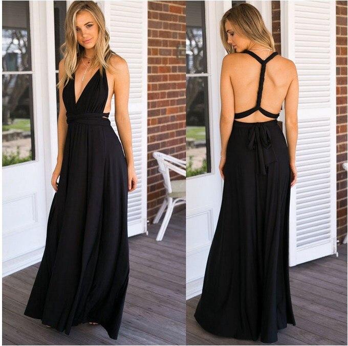 Black Convertible Wrap Dress – Little Black Dress | Black ...