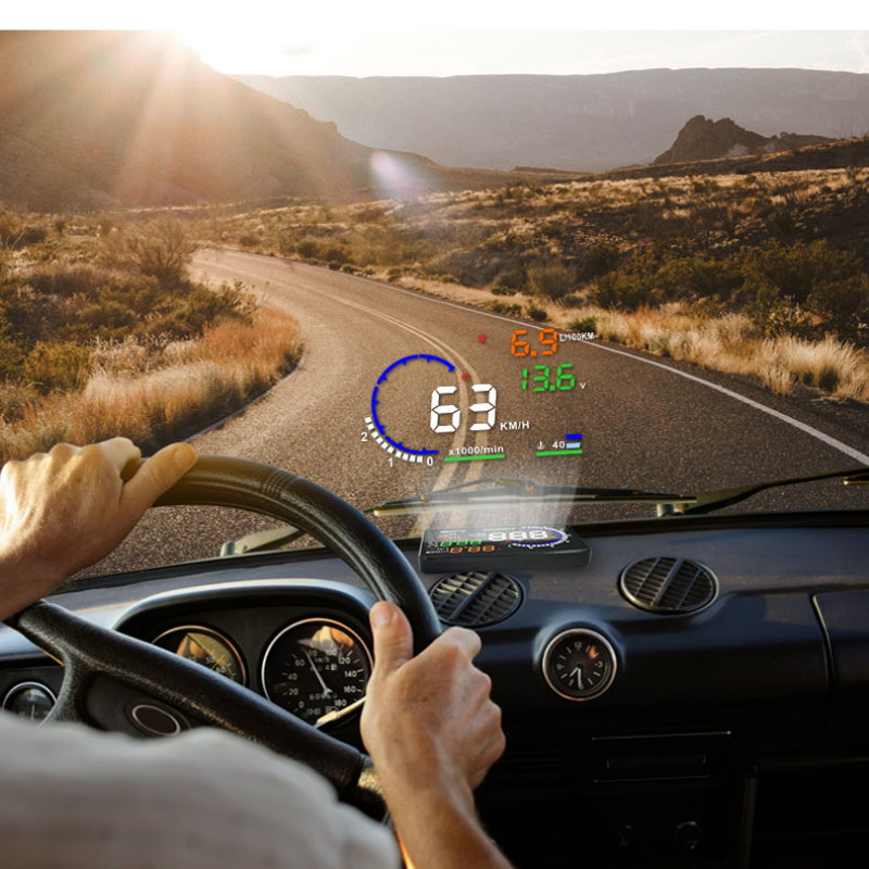 Liandlee Car HUD Head Up Display For Volkswagen VW Santana Gran Santana 2012 2018 Safe Driving Screen OBD Projector Windshield in Head up Display from Automobiles Motorcycles