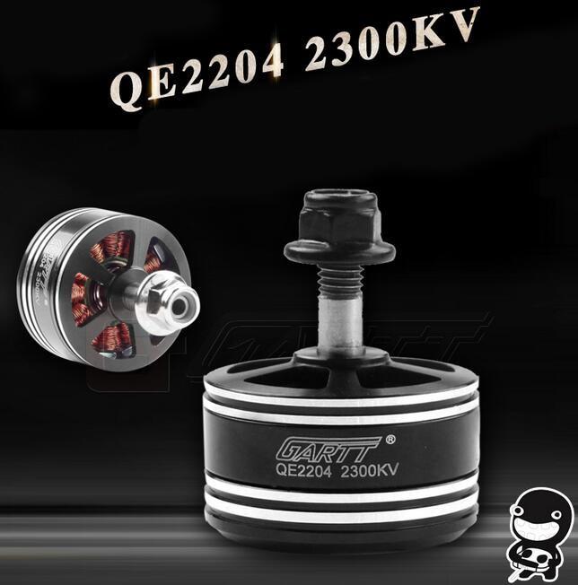 Free Shipping GARTT QE2204 2204 2300KV CW CCW Brushless Motor for FPV Racing Quadcopter